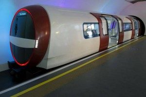 Futuristic Tube Train