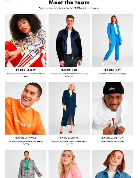 ASOS Meet The Team - Staff Influencers