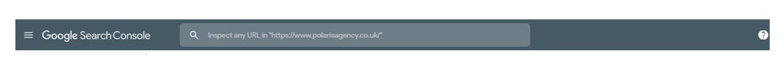 Google search console URL box